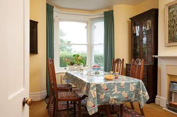 Enjoy game nights and family meals in the spacious dining room.