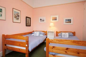 A third twin bedroom suitable for children.