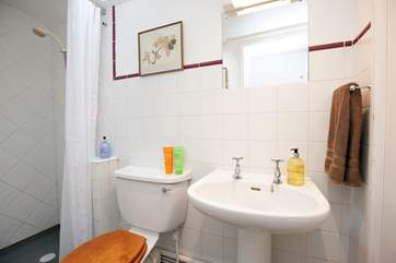 A convenient shower room located on the ground floor.