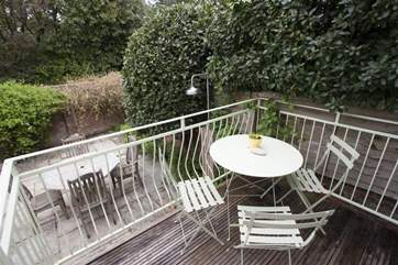 Balcony with additional chairs