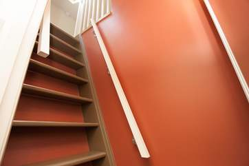 Please be aware of the steep stairs that lead up to the twin bedroom in the eaves on the first floor.