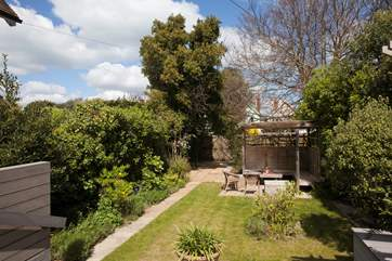 Lawn End has a lovely enclosed garden, perfect to let children run around and let off some steam