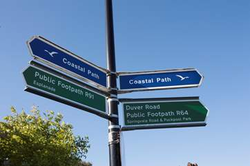 There are plenty of stunning walks from Seaview, pick a direction and go exploring