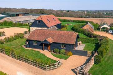 Aerial view of Little Black Barn
