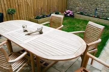 Garden furniture includes Gas BBQ