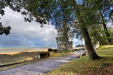 Appley beach and park are a short walk away