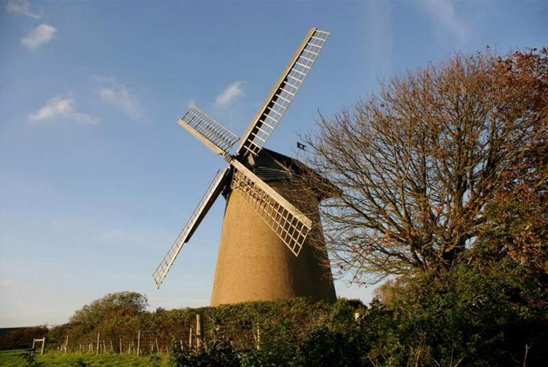 Nearby Bembridge Windmill.