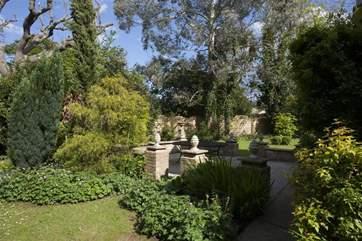 Garden patio area.