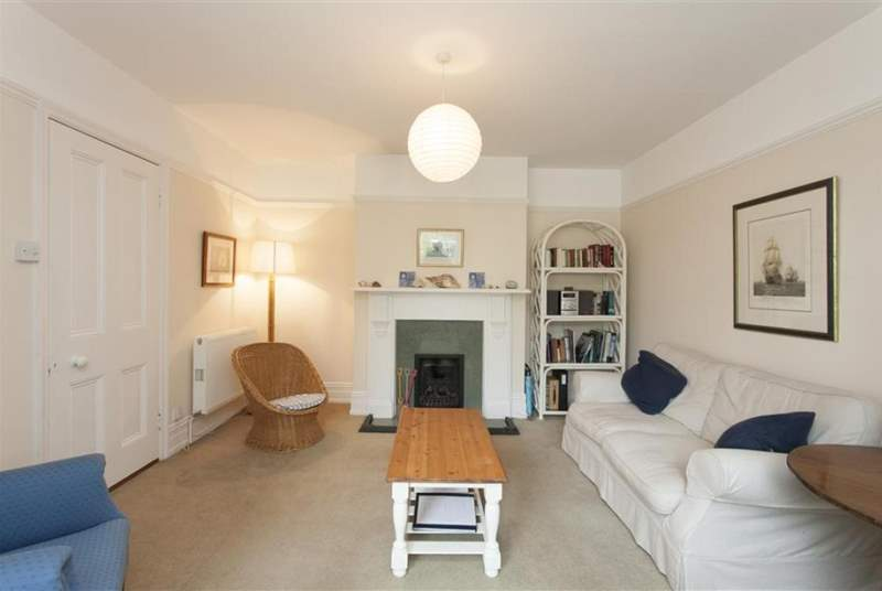 Lovely modern living room, ideal for relaxing after a busy day sailing or on the beach