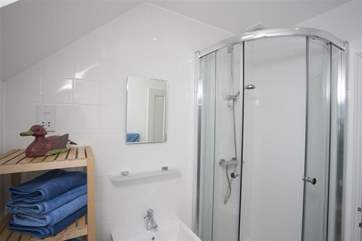 Shower room with walk in shower cubilcle