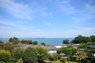 Views of the Solent from the living room