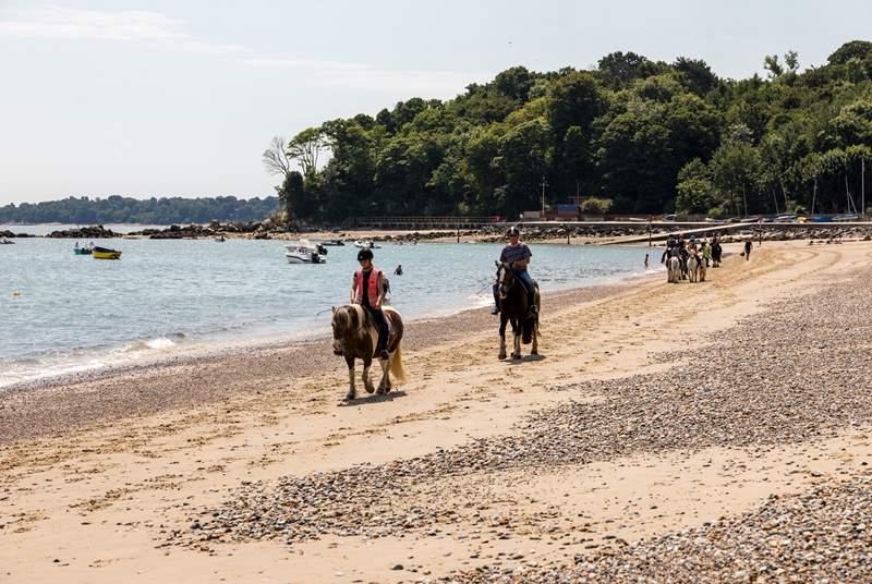 Horse riding at Seagrove Bay.