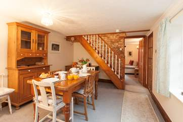 The cottage is fully of homely characteristics, creating a lovely cosy feel throughout