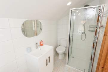 Both bathrooms are brand new, providing a bit of modern luxury in this country cottage