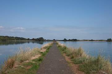 Take a spectacular walk across Bembridge harbour to St Helens