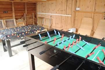 Games room in garden