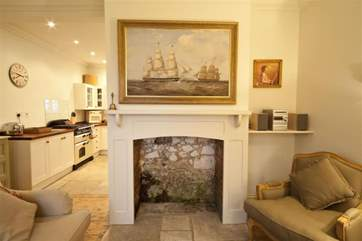 Feature fireplace in living area