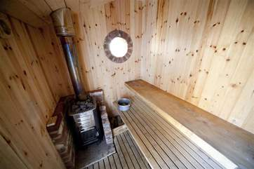 Private sauna for guests use