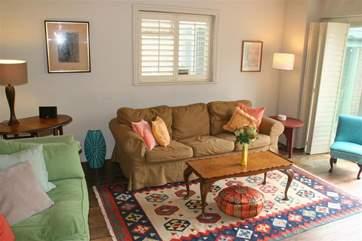 Living room with door onto Patio