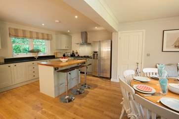 The open plan kitchen/dining-room is excellent for entertaining and spending time together.