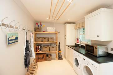 The utility-room is a great space to to dump your sandy flip flops or your muddy boots before entering the main house.