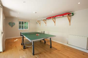 Play a game of ping pong in the games-room - best of three?