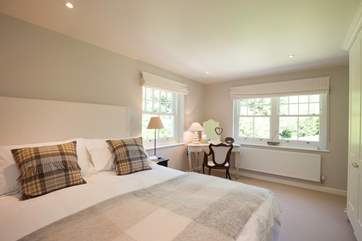 The second double bedroom is equally as stunning as the master bedroom.