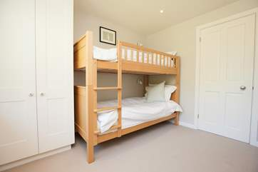 The bunk bedroom has two sets of bunk beds which are suitable for either children or adults in your party.