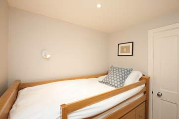In the fourth bedroom are two cabin beds which we recommend are more suitable for children.