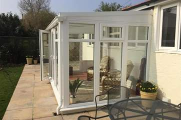 Conservatory with access to patio and garden
