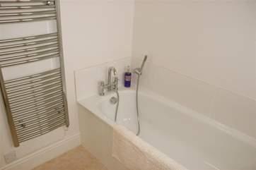Family bathroom with heated towel rail