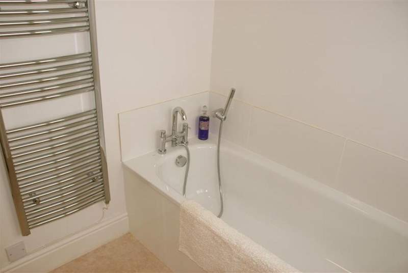 Family bathroom with heated towel rail
