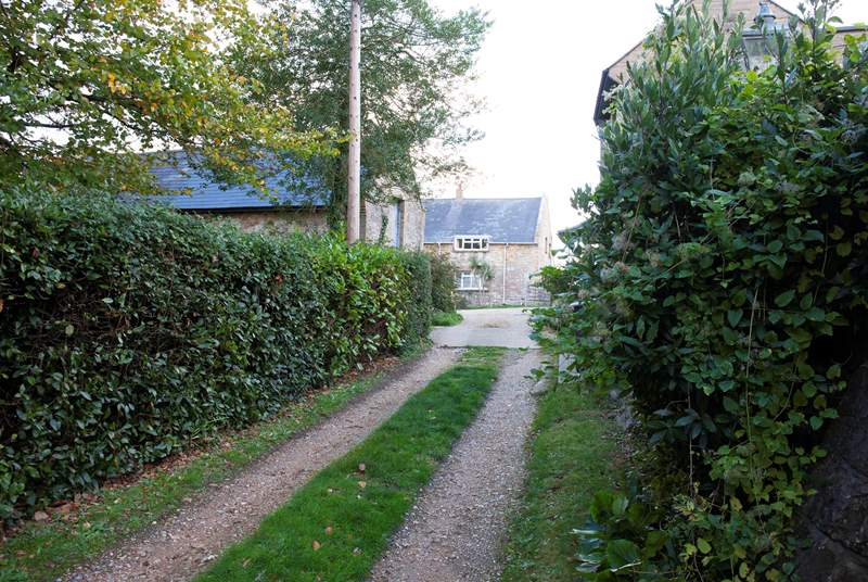 This lovely property is located down a secluded side road.