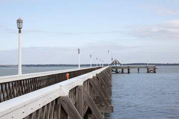 Take a short stroll down Yarmouth Pier where you can watch the boats go by