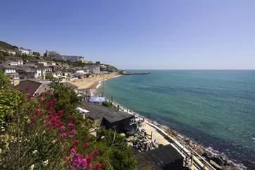 The main seaside town of Ventnor is a lovely twenty minute coastal walk away