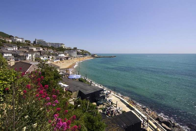 The main seaside town of Ventnor is a lovely twenty minute coastal walk away