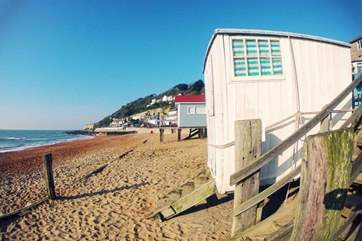 Ventnor beach is on the south side of the Island and has freshly caught local fish and crab at the Fish Haven - be sure to try the crab on chips...