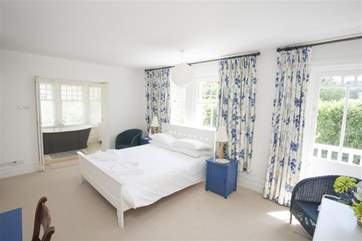 Large, comfortable main bedroom