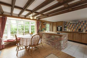 Traditional farm cottage kitchen and dining room