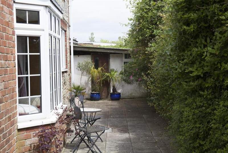 Pretty courtyard at the rear