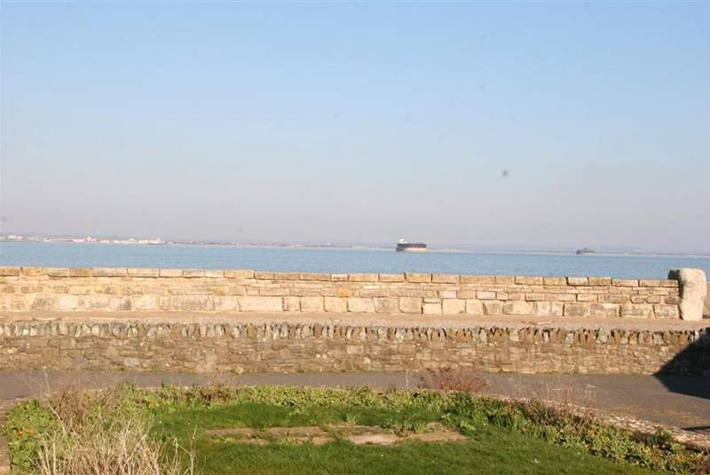 The views across to Portsmouth and Southsea