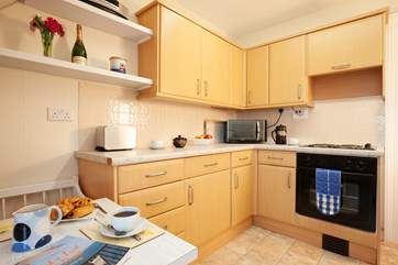 The fully equipped kitchen has everything you'll need.