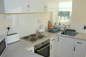 Fully equipped compact kitchen area