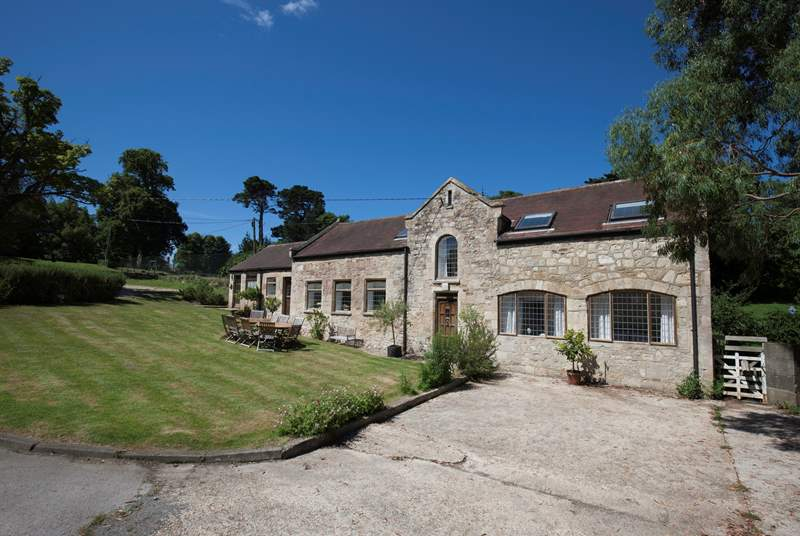 The Priory Coach House is a five bedroom property on the outskirts of Seaview village.
