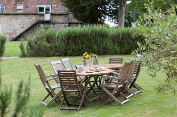 Al fresco dining is a must whilst on holiday, especially in this tranquil setting