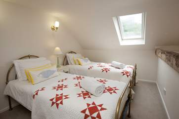 The twin bedrooms offer flexibility for your party