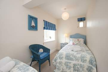 The Priory Coach house has three lovely twin bedrooms