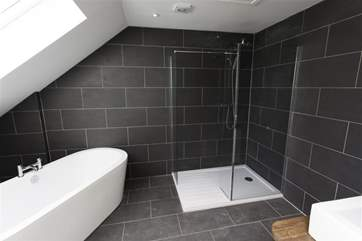 Bathroom next to the family room on the top floor