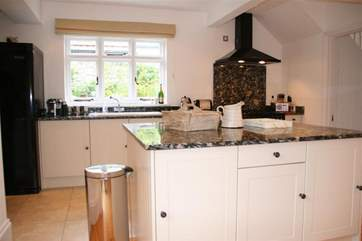 Kitchen with views to the pretty garden