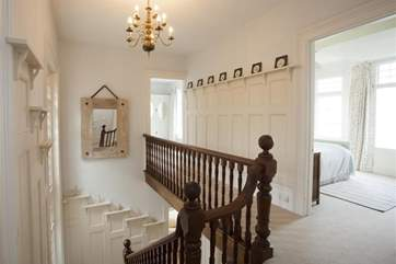 The substantial staircase.